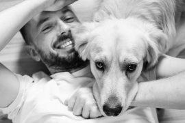 Pies ze swoim panem