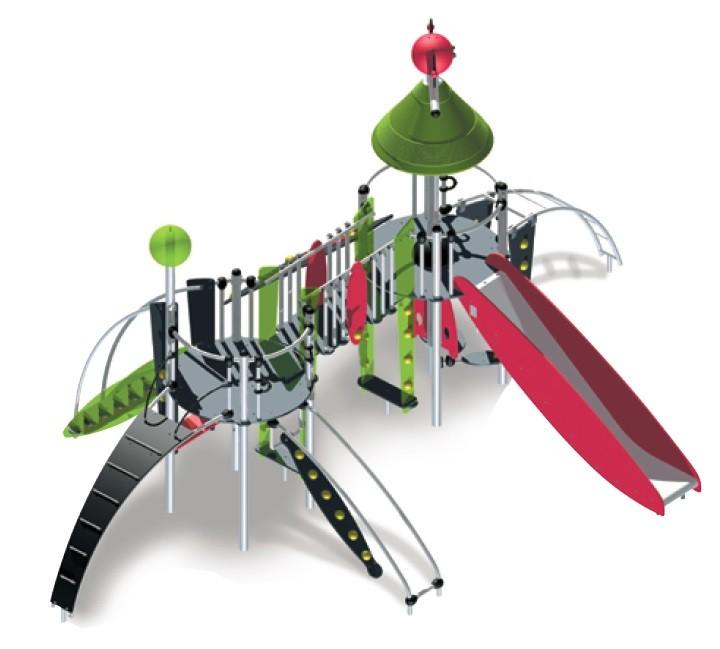Metalowy plac zabaw z atestem