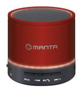 Czerwony głośnik Manta
