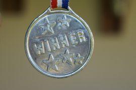 Medal z napiem Winner