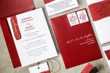 zaproszenia ślubne czerwone