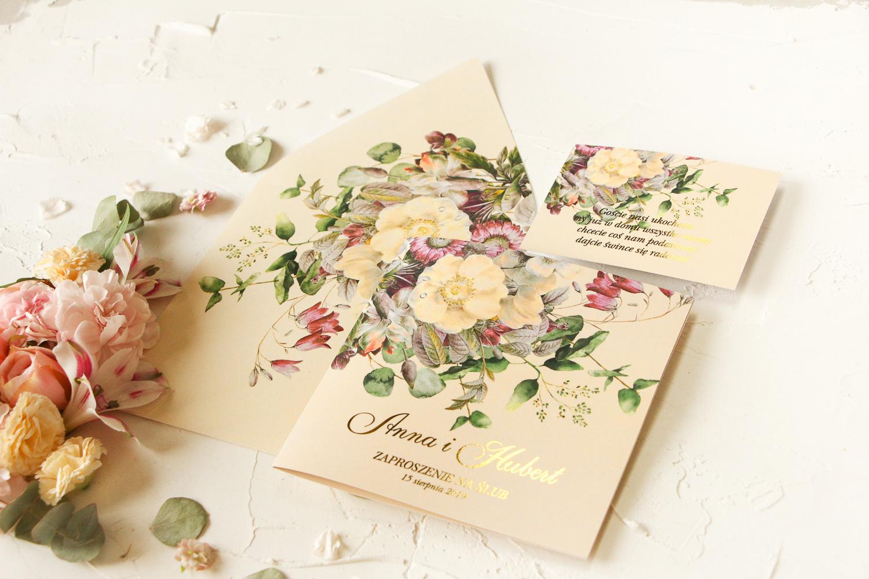 zaproszenia ślubne kwiaty
