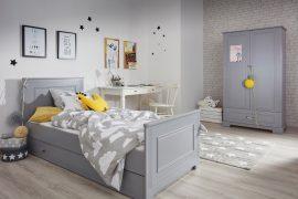Pokój dziecięcy z szarymi mebelkami