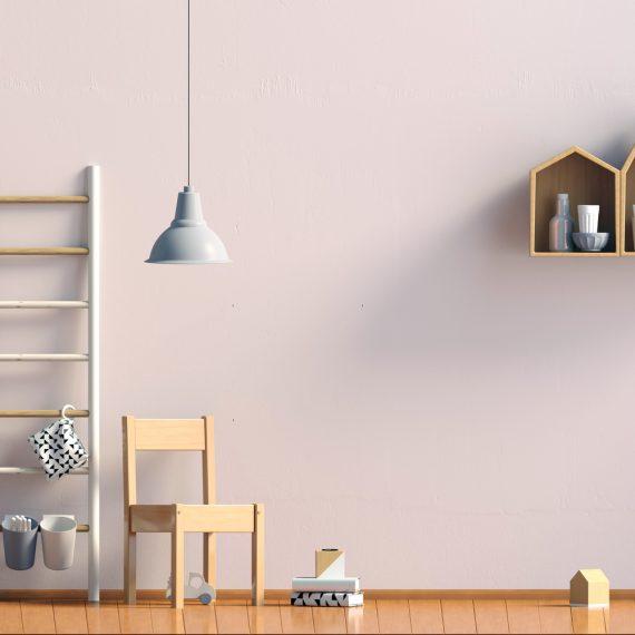 Pastelowe ściany w salonie