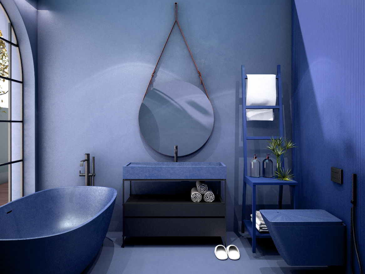 Łazienka classic blue