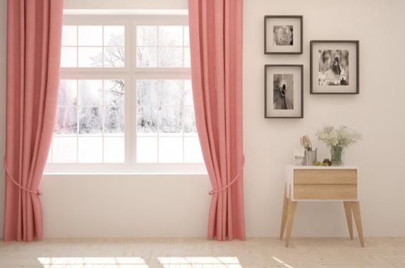 dekoracja okna piękne zasłony