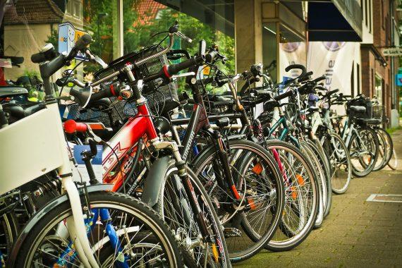 rowery parking rowerów