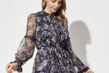 kobieta sukienka w kwiaty ditsy needle thread