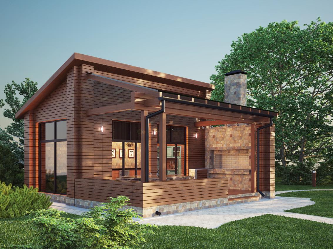nowoczesny drewniany dom szkieletowy