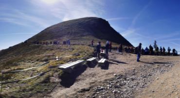 Panorama na Tarnicę i Szeroki Wierch - szlak z Wołosatego - Przełęcz Krygowskiego - 360 stopni