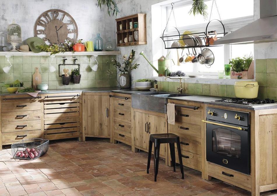 kuchnia rustykalna włoski piekarnik w stylu retro