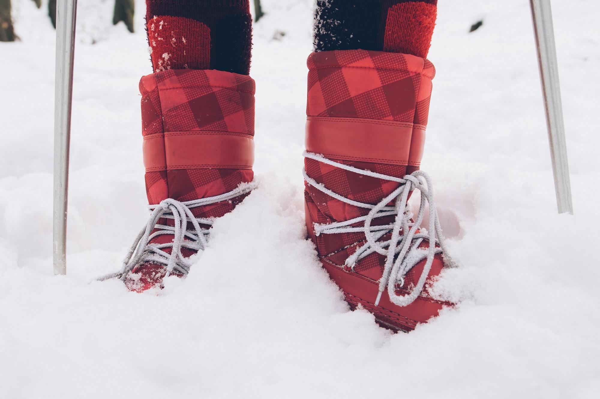 śniegowce damskie zimą