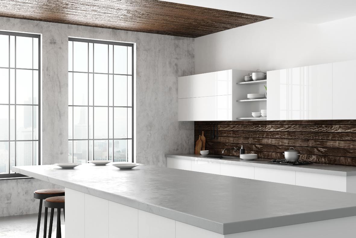 blat kuchenny w minimalistycznej kuchni