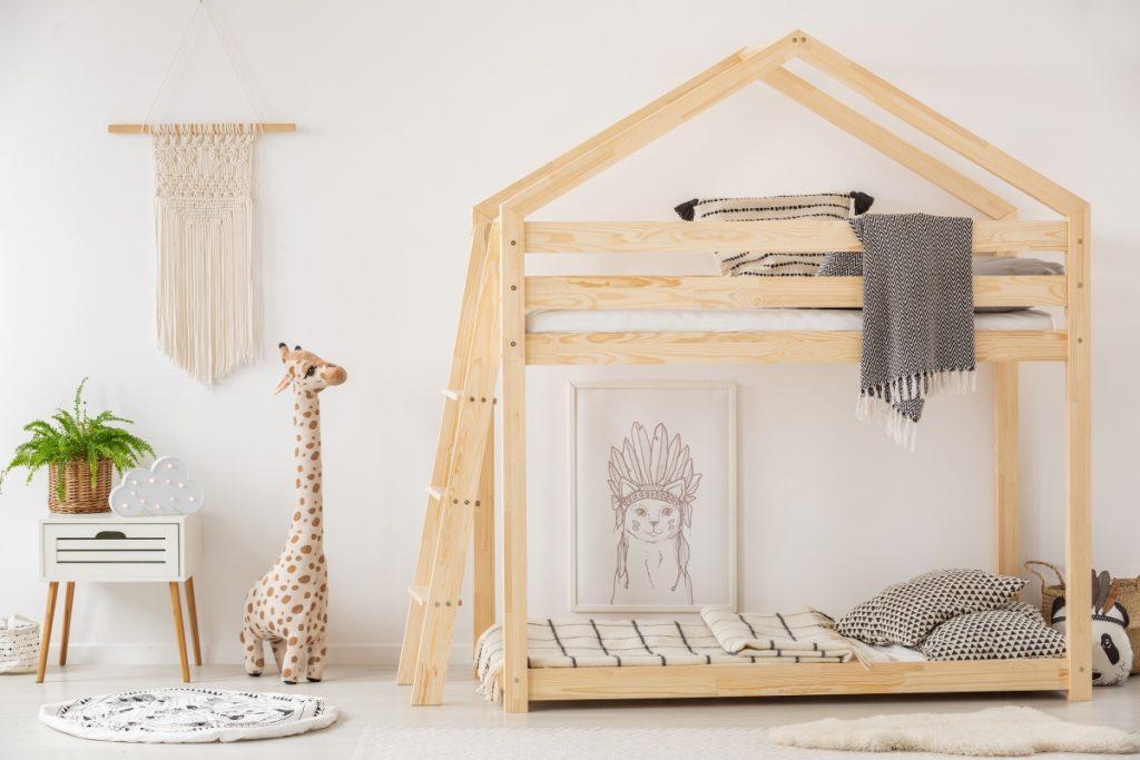 Piętrowe łóżko MILA z dwoma miejscami do spania