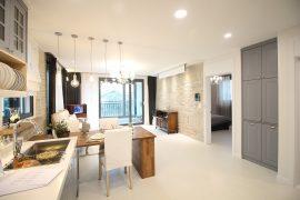 eleganckie wnętrze kuchnia jadalnia