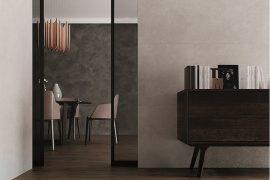 płytki drewnopodobne salon jadalnia