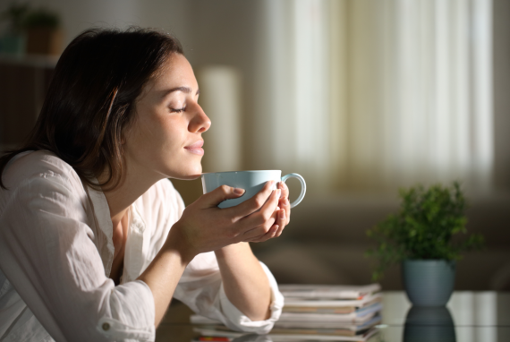 poranna kawa relaks i uważność
