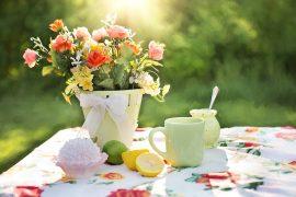 herbata w ogrodzie