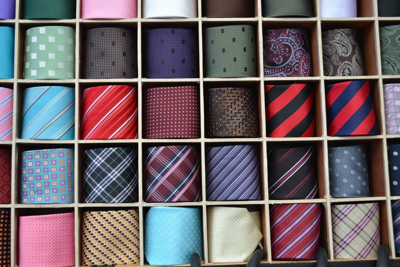kolorowe krawaty